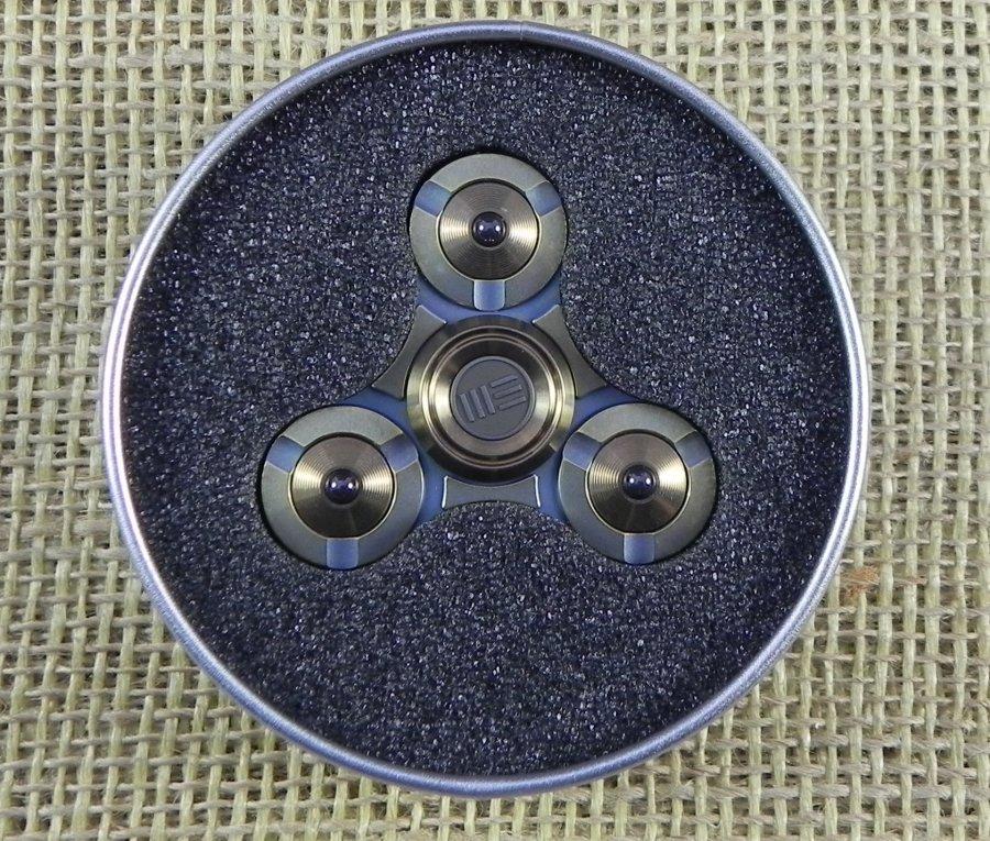 WES02B We Knife Co Ltd Fid Ti Spinner Bronze Fid Spinners Nože Nůž